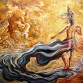 The Arrival Of The Goddess Of Consciousness by Darwin Leon