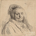 The Artist's Mother, Head And Bust by Rembrandt Van Rijn