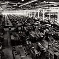 The Assembly Plant Of The Bell Aircraft Corporation In 1944 by Doc Braham