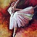 The Dancer Tilting - Adaptation Of Degas Artwork by Rosario Piazza