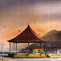 The Bandstand On Bray Promenade by Val Byrne