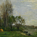 The Banks Of The Oise by Charles-Francois Daubigny