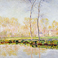 The Banks Of The River Epte At Giverny by Claude Monet