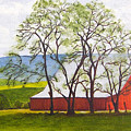 The Barn, 11x14, Oil, '07 by Lac Buffamonti