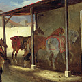 The Barn Of Marechal-ferrant by Theodore Gericault