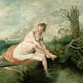 The Bath Of Diana by Jean Antoine Watteau
