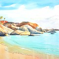 The Baths Virgin Gorda Beach Boulders by Carlin Blahnik CarlinArtWatercolor