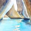 The Baths Water Cave Path by Carlin Blahnik CarlinArtWatercolor