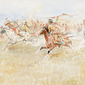 The Battle Between The Blackfeet And Piegans by Celestial Images