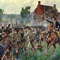 The Battle Of Brooklyn - Smallwood's Marylanders At The Old Stone House - Long Island  by Mark Maritato