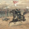 The Battle Of Cedar Creek Virginia by Thure de Thulstrup