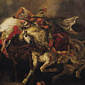 The Battle Of Giaour And Hassan by Ferdinand Victor Eugene Delacroix