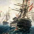 The Battle Of Lissa by Constantin Volonakis
