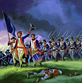 The Battle Of Saratoga, Showing A General Attack Led By Brigadier Arnold by Ron Embleton