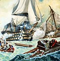 The Battle Of Trafalgar by English School