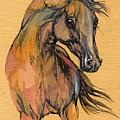 The Bay Arabian Horse 9 by Angel Ciesniarska