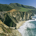 The Beach And Shoreline Along Highway 1 by Phil Schermeister