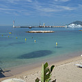 The Beach At Cannes by Allen Sheffield