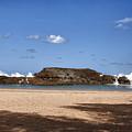 The Beach At Vega Baja Puerto Rico by Frank Feliciano