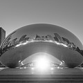 The Bean Sunrise Bw by Michael Ver Sprill