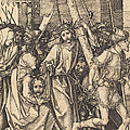 The Bearing Of The Cross With Saint Veronica by Martin Schongauer