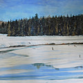 The Beaver Pond In Winter by Stanton Allaben