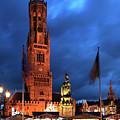 The Belfort Tower, Belfry, Bruges City, West Flanders by Dave Porter