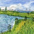 The Berkeley Island Pond by Clara Sue Beym