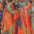 The Betrayal Of Judas Fragment 1311 by Duccio