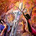 The Bible Crucifixion by Miki De Goodaboom