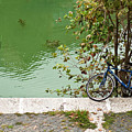 The Bicycle Is A Ubiquitous Form Of Transport In Europe And This Owner Has Literally Gone Fishing. by Lionel Everett