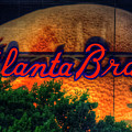The Big Ball Atlanta Braves Baseball Signage Art by Reid Callaway