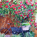 The Bike At Bistro Jeanty Napa Valley by Gail Chandler