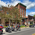 The Bikes And Brews Event In Old Forge by David Patterson