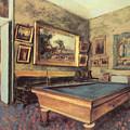 The Billiard Room At Menil-hubert by Edgar Degas