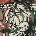The Birth Of Horses  Geburt Der Pferde, 1913 by Franz Marc
