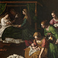 The Birth Of The Virgin by Alessandro Turchi