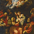 The Birth Of The Virgin by Giuseppe Bartolomeo Chiari