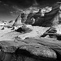 The Bisti Badlands - New Mexico - Black And White by Jason Politte