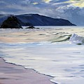 The Black Rock Widemouth Bay by Lawrence Dyer