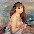 The Blonde Bather by Pierre Auguste Renoir