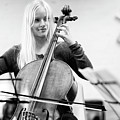 The Blonde Cellist by Keith Morris