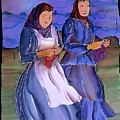 The Blowing Skirts Of Ladies by Carolyn Doe
