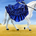 The Blue And The White - Princess Starliyah Riding Candis by J M Lister