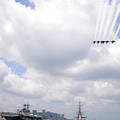 The Blue Angels Flying Over Uss Constitution by Celestial Images