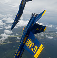 The Blue Angels Over Pensacola Beach by Celestial Images