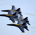 the Blue Angels perform a Diamond 360 by Celestial Images