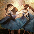 The Blue Ballerinas - A Edgar Degas Artwork Adaptation by Rosario Piazza