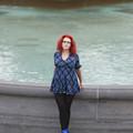 The Blue Ballet Shoes In Trafalgar Square by Toula Mavridou-Messer