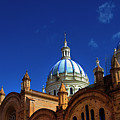 The Blue Domes Of Cuenca, Ecuador by Al Bourassa